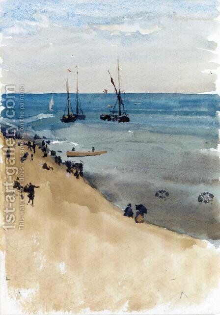 Green and Silver - The Bright Sea, Dieppe by James Abbott McNeill Whistler - Reproduction Oil Painting
