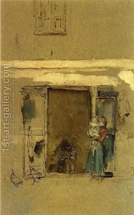 The Open Door by James Abbott McNeill Whistler - Reproduction Oil Painting