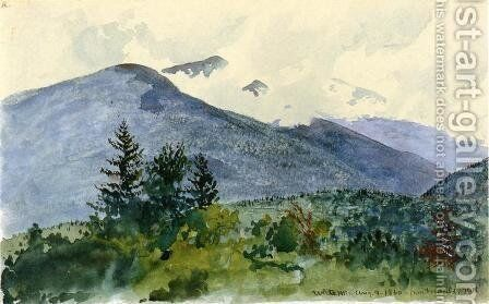 White Mountains from Fernald's Hill by Charles DeWolf Brownell - Reproduction Oil Painting