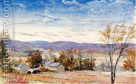 East Hartford, Connecticut by Charles DeWolf Brownell - Reproduction Oil Painting