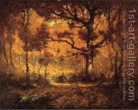Autumn Woodlands by Henry Ward Ranger - Reproduction Oil Painting