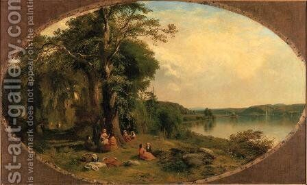 Picnic on the Hudson by James McDougal Hart - Reproduction Oil Painting