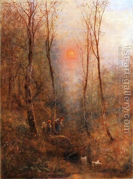 Children in a Wood by James Crawford Thom - Reproduction Oil Painting