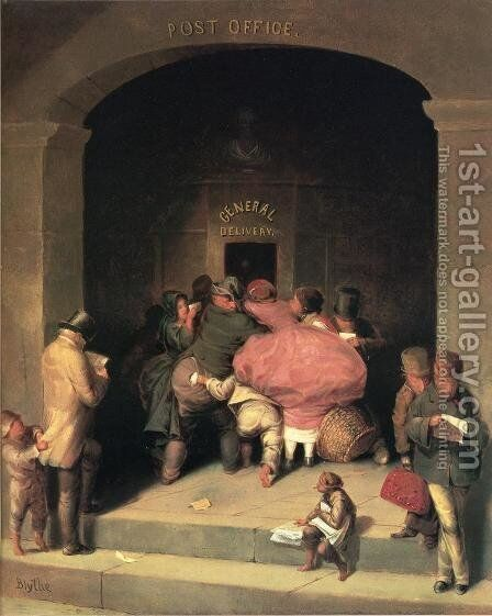 Post Office by David Gilmour Blythe - Reproduction Oil Painting