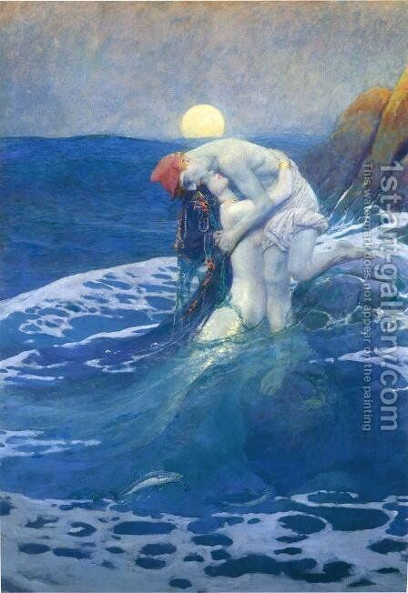 The Mermaid by Howard Pyle - Reproduction Oil Painting