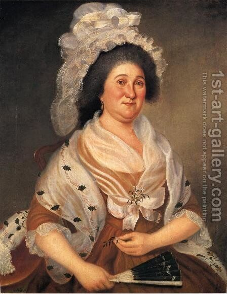 Mrs. Elijah Etting by Charles Peale Polk - Reproduction Oil Painting
