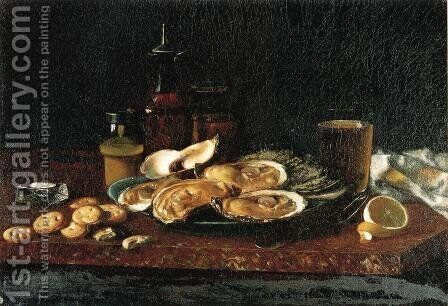 Still Life: Oysters on the Half Shell by Andrew John Henry Way - Reproduction Oil Painting