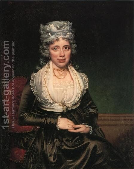 Mrs. James Courtney by James Earle - Reproduction Oil Painting