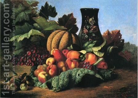 An Abundance of Fruit by Andrew John Henry Way - Reproduction Oil Painting