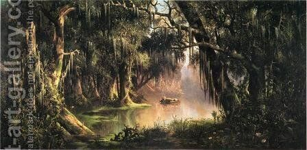 Bayou Teche by Meyer Straus - Reproduction Oil Painting