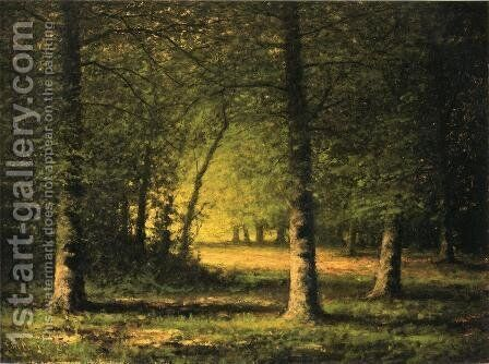 Beech Trees by Carl Brenner - Reproduction Oil Painting