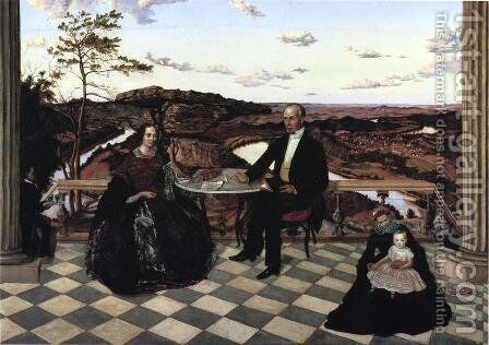 Colonel and Mrs. James A. Whiteside, Son Charles and Servants by James Cameron - Reproduction Oil Painting
