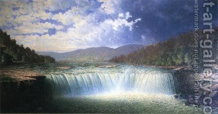 Falls of the Cumberland River, Whitley County, Kentucky by Carl Brenner - Reproduction Oil Painting