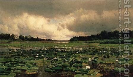 The Lily Pond by Charles Harry Eaton - Reproduction Oil Painting