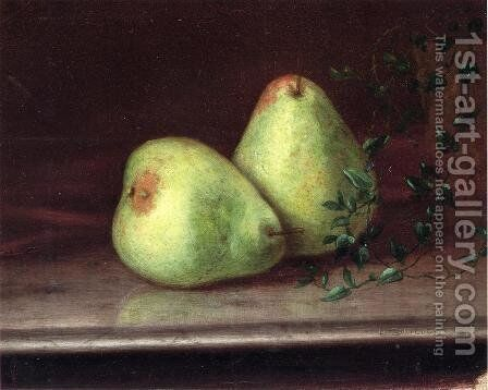 Two Green Pears by Daniel Folger Bigelow - Reproduction Oil Painting
