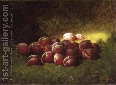 Purple Plums by Carducius Plantagenet Ream - Reproduction Oil Painting