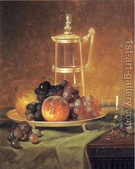 Tabletop Still Life by Edward Chalmers Leavitt - Reproduction Oil Painting
