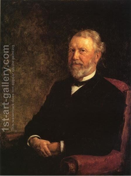 Albert G. Porter, Governor of Indiana by Theodore Clement Steele - Reproduction Oil Painting