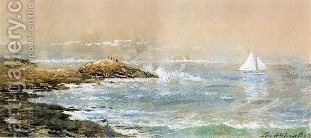 Sailing off the Rocks by Edmund Darch Lewis - Reproduction Oil Painting