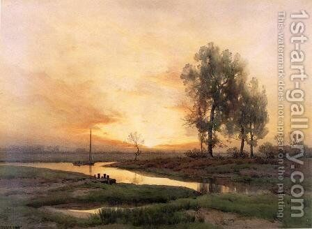 Evening Sail by Henry Farrer - Reproduction Oil Painting