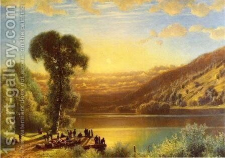 Sunset in The Androsgoccin Valley, Maine by James Fairman - Reproduction Oil Painting