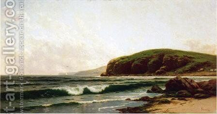 Headlands and Breakers - Grand Manan Maine by Alfred Thompson Bricher - Reproduction Oil Painting