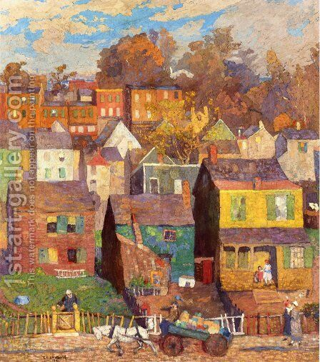 Sag Harbor by Elisha Kent Kane Wetherill - Reproduction Oil Painting