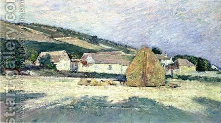 A Farm House in Giverny by Theodore Robinson - Reproduction Oil Painting