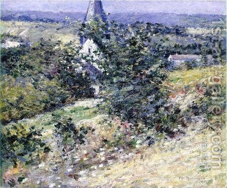 Old Church at Giverny by Theodore Robinson - Reproduction Oil Painting