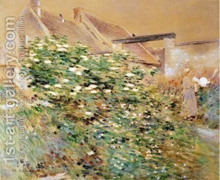 Normandy Farm, A Characteristic Bit, Givernyy by Theodore Robinson - Reproduction Oil Painting