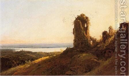 Italian Landscape by Jasper Francis Cropsey - Reproduction Oil Painting