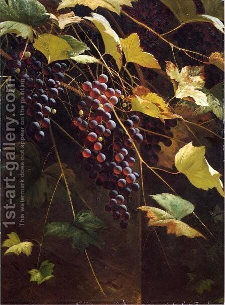 Wild Grapes by Andrew John Henry Way - Reproduction Oil Painting