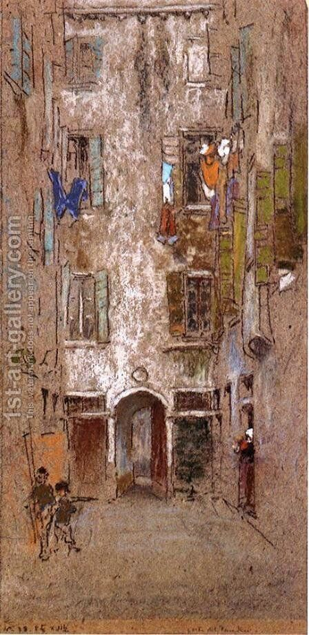 Corte del Paradiso by James Abbott McNeill Whistler - Reproduction Oil Painting