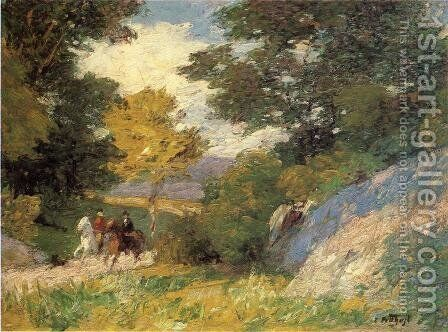 Bridal Path by Edward Henry Potthast - Reproduction Oil Painting