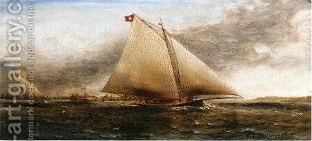 Yacht Race off Castle Garden, New York by James E. Buttersworth - Reproduction Oil Painting