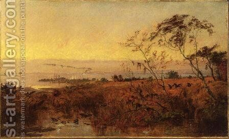 View on the Chesapeake Bay by Jasper Francis Cropsey - Reproduction Oil Painting