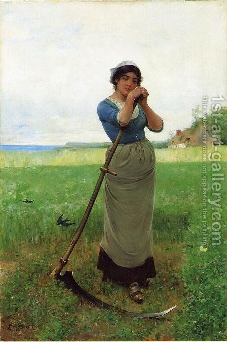 The Peasant Girl by Henry Bacon - Reproduction Oil Painting