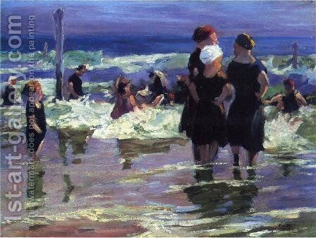 The Gossips by Edward Henry Potthast - Reproduction Oil Painting