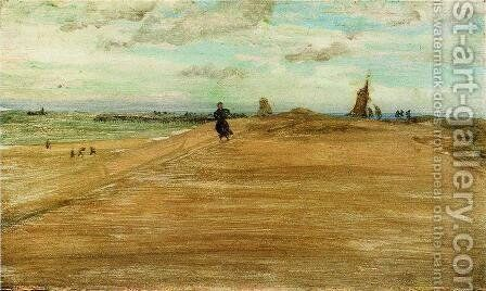 Beach Scene by James Abbott McNeill Whistler - Reproduction Oil Painting