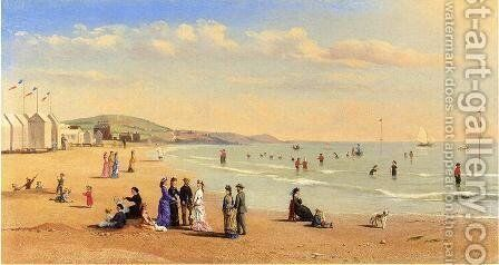 Figures on a Beach by Conrad Wise Chapman - Reproduction Oil Painting