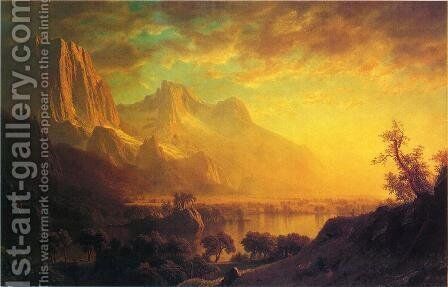 Wind River, Wyoming by Albert Bierstadt - Reproduction Oil Painting