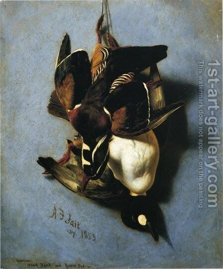 American Wood Duck and Golden Eye by Arthur Fitzwilliam Tait - Reproduction Oil Painting