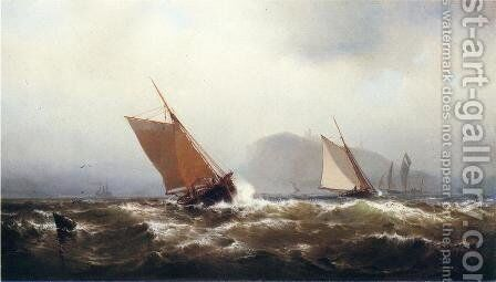 Stormy Breezes by Mauritz F. H. de Haas - Reproduction Oil Painting