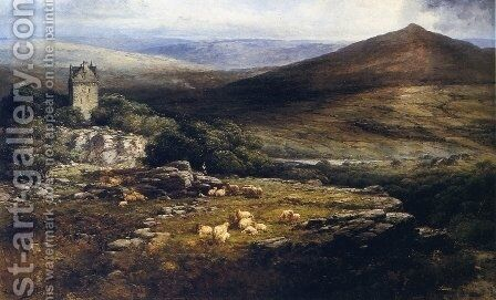 A Shepherd's Lament by Andrew Melrose - Reproduction Oil Painting