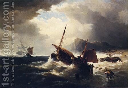 The Morning After the Wreck by Edward Moran - Reproduction Oil Painting