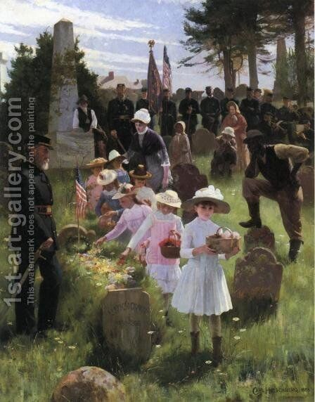 Decoration Day by Carlton Hirschberg - Reproduction Oil Painting