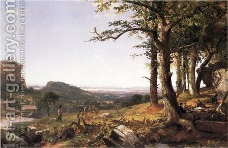 Sportsmen Nooning by Jasper Francis Cropsey - Reproduction Oil Painting