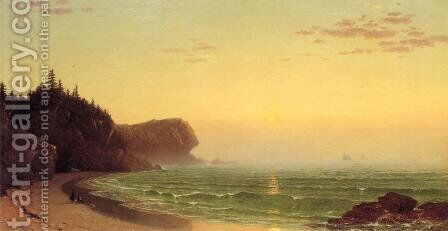 Seascape: Sunset by Alfred Thompson Bricher - Reproduction Oil Painting