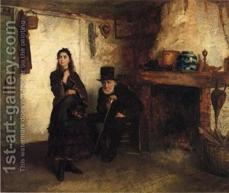 The Reprimand by Eastman Johnson - Reproduction Oil Painting