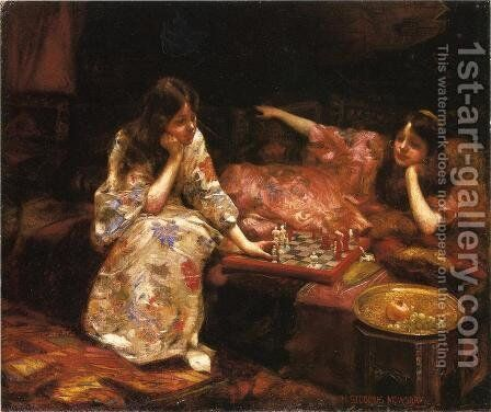 Repose - A Game of Chess by Henry Siddons Mowbray - Reproduction Oil Painting
